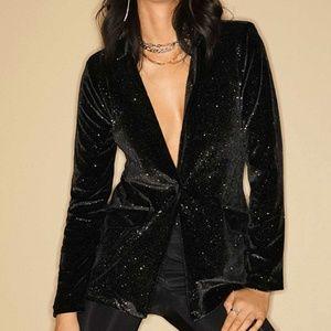 Sparkly black velvet blazer / jacket NWT